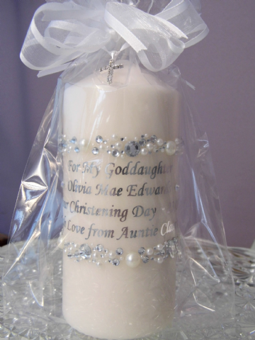 Goddaughters Christening Candle